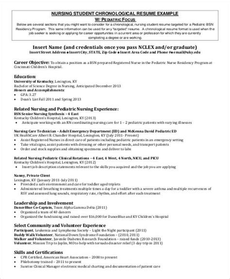 Student Objective Resume by Sle Student Resume 8 Exles In Word Pdf