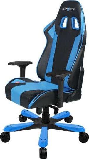 dxracer king series gaming chair black blue ohksnb