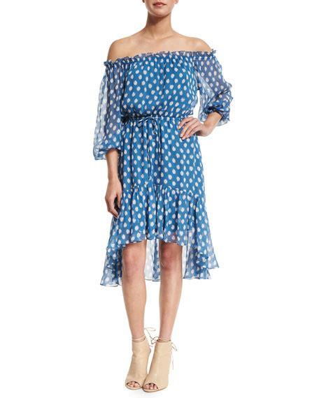 Ca Dress Batik Shoulder Fani diane furstenberg camila dotted batik the shoulder