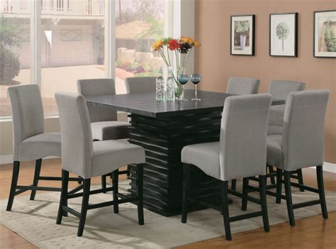 stanton counter height coaster stanton 9pc counter height dining set in black