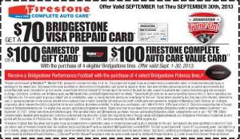 Firestone Complete Auto Care Gift Card - 1000 images about firestone coupons on pinterest oil change brake inspection and