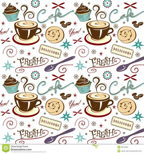 Drawing House Plans Free by Vector Pattern Background Cafe Coffee Shop Stock Vector