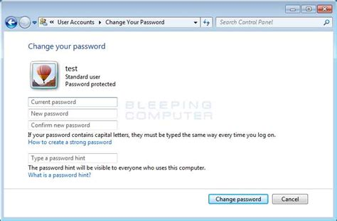 windows reset your password tograg how to change your windows password