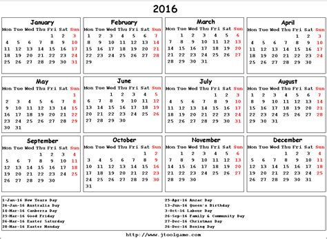 yearly calendar australia yearly calendar template