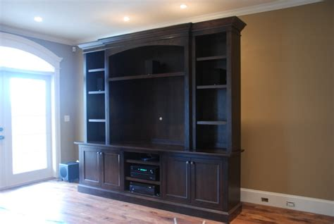 bloombety built in entertainment center with lcd tv custom t v wall unit traditional vancouver by out of