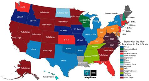 Banks 26th Most Desireable maptitude map most popular banks