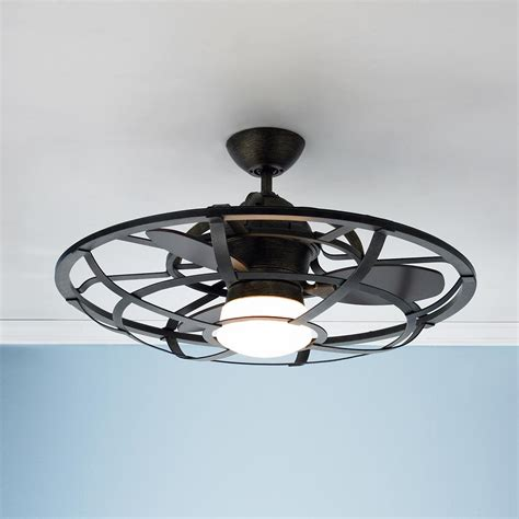 industrial cage ceiling fan industrial the white and style