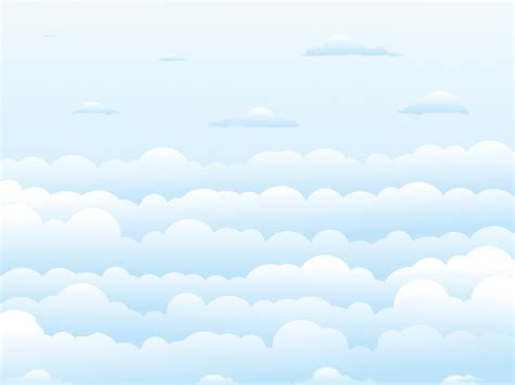 clear sky clouds ppt backgrounds nature templates ppt