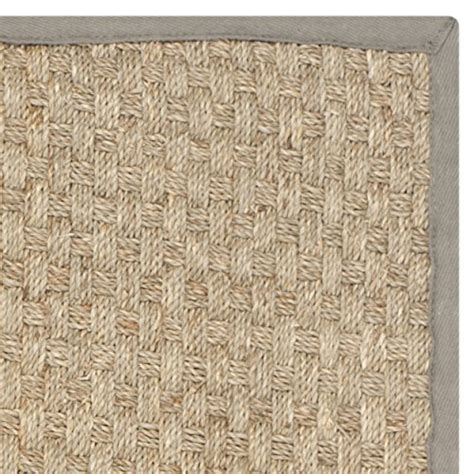 Seagrass Outdoor Rug Safavieh Fiber Collection Nf114p Basketweave And Grey Seagrass Area Rug 2 X 3