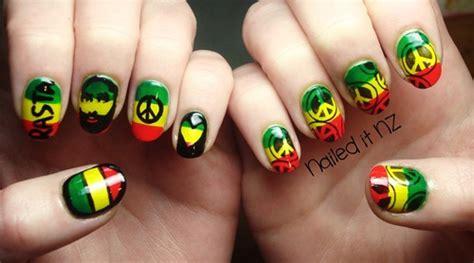 imagenes de uñas decoradas rastas u 241 as pintadas de rastafari