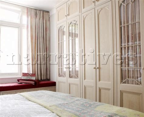 Glass Fronted Wardrobes - bd115 06 glass fronted wardrobes and window seat in b