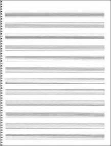 Music Writing Paper Free Blank Music Staff Paper