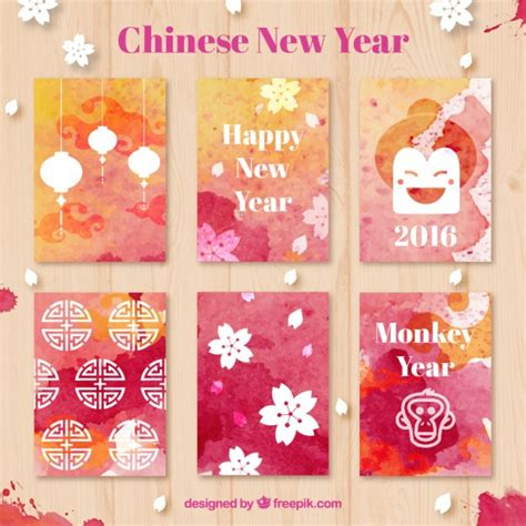 new year card design ai watercolor new year cards vector free