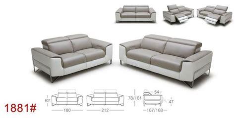 Moderne Sofa 237 by Divani Casa Begonia Modern Taupe Italian Leather Reclining