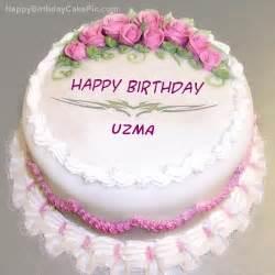 pink rose birthday cake for uzma