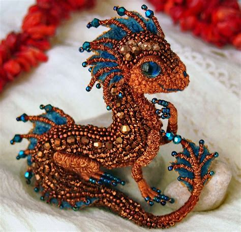 Beautiful beaded dragons by Alena Litvin (Beads Magic)   Dragons, Beads and Beadwork