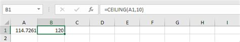 Function Of Ceiling by Nearest In Excel Easy Excel Tutorial