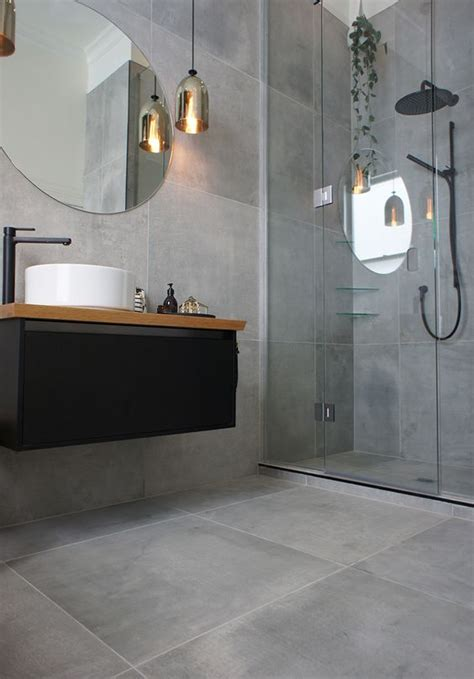 Gray Floor Tile Bathroom » Home Design 2017
