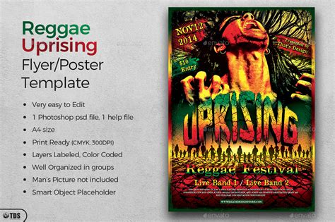 template flyer reggae reggae uprising flyer template by lou606 graphicriver