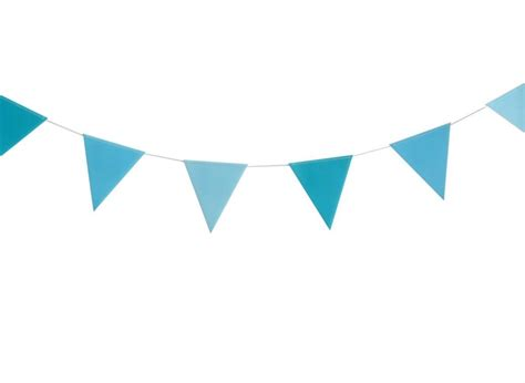 White And Blue Bunting Clip