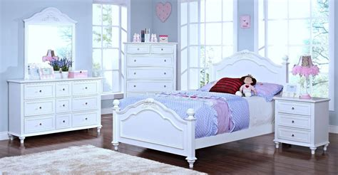 youth white bedroom sets megan youth white poster bedroom set from new classics 05