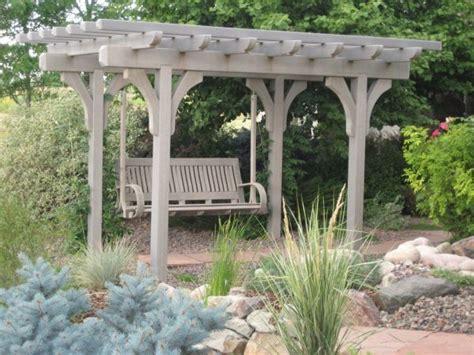 pergola and swing laminated trex pergola and swing pretty garden ideas