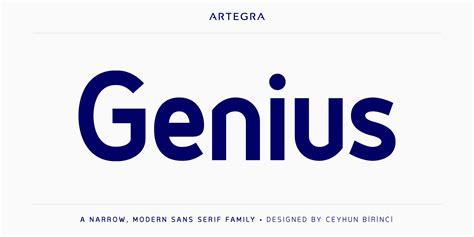 genius font free by artegra 187 font squirrel