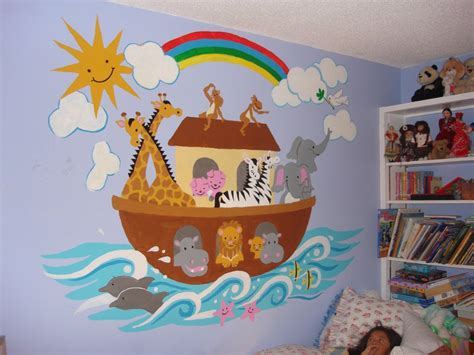 noah s ark large paint by number wall mural elephants on the wall