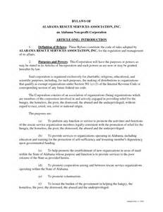 Bylaws For Nonprofit Organizations Template by Best Photos Of Sle Non Profit Bylaws Non Profit