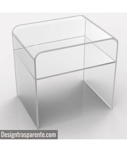 comodini plexiglass comodino con ripiano 50x20h45 in plexiglass trasparente