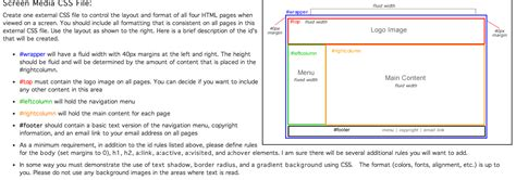 layout of css file solved screen media css file create one external css fil