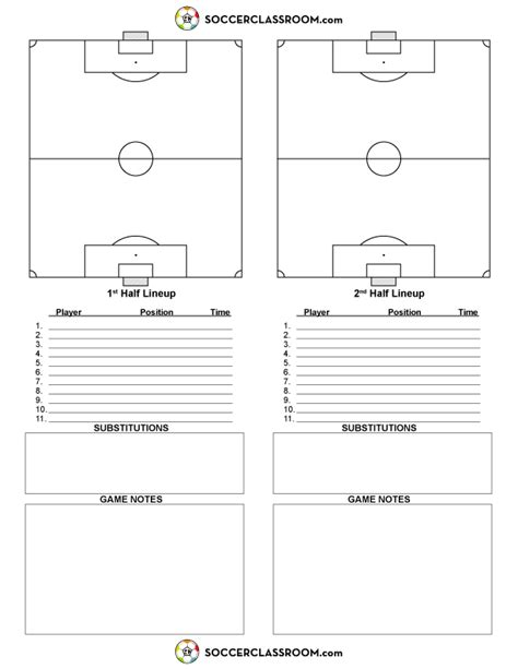 Soccer Match Report Template