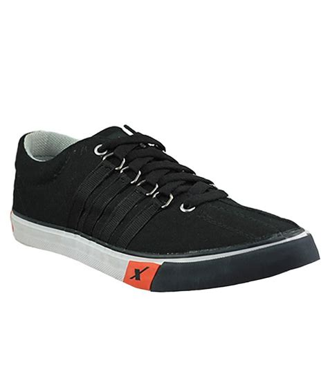buy sparx black canvas shoes for snapdeal