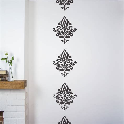 damask wall stickers by nutmeg notonthehighstreet