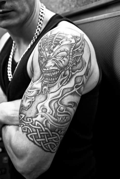 black and gray tribal tattoos 63 black and grey fantastic shoulder tattoos