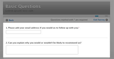 Sle Survey Questions Questionnaire Exles Questionpro Open Ended Survey Template