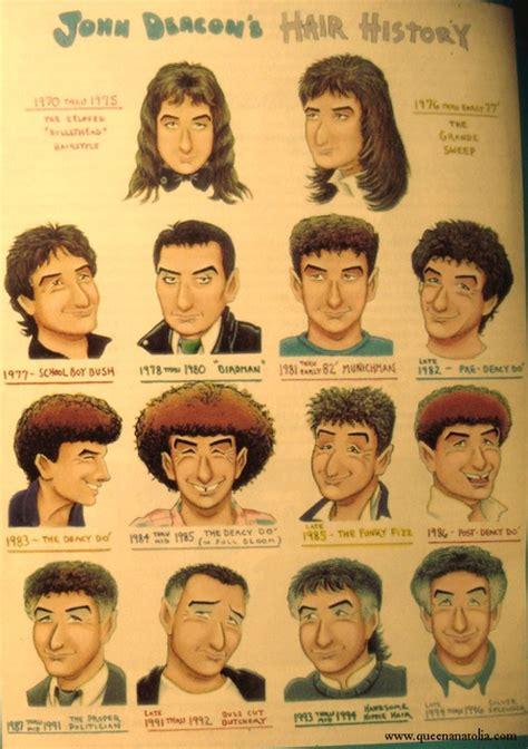 vigina hair history styles john deacon s hair history queen pinterest funny