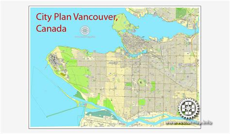 printable map vancouver bc vancouver map v 2 in adobe pdf printable city plan map of