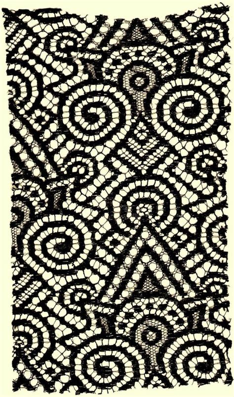 geometric pattern lace a large exciting black jazzy geometric vintage lace fabric