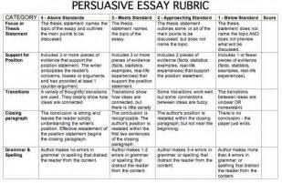 Rubric For Argumentative Essay Middle School by Poe Field Trip