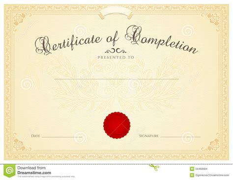 certificate scroll template certificate diploma background template floral stock