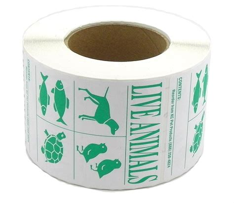 Tv Iyata roll 500 iata live animal species shipping labels dryfur 174 pet airline travel supplies