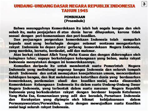 Undang Undang Dasar 1945 Hasil Amandemen Ke 4 teks pembukaan uud 1945 newhairstylesformen2014