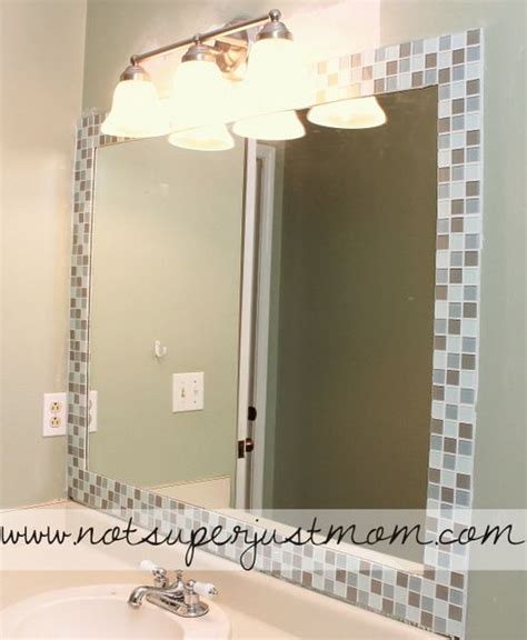 bathroom mirror tiles 17 best ideas about mosaic tile bathrooms on pinterest