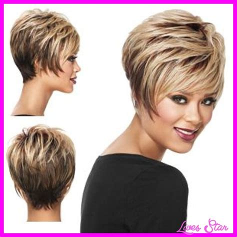 short stackedbob for over 60 short hairstyles wigs for women over 60 side view short