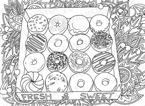 coloring pages donuts donuts doughnuts coloring page gift wall by