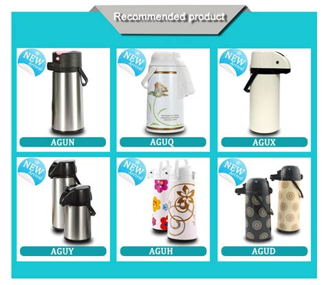 Thermos Air 1 Liter 3 liter metal thermos air pot glass linner vacuum flask