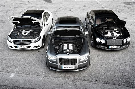 mercedes bentley bentley flying spur vs mercedes benz s600 vs rolls royce