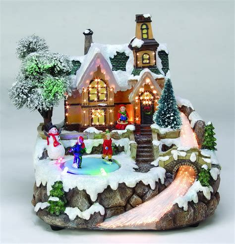 fiber optic and led christmas village from jingle home