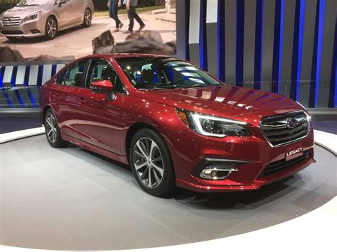 red subaru legacy 2018 subaru legacy electrifies the crowd at the chicago